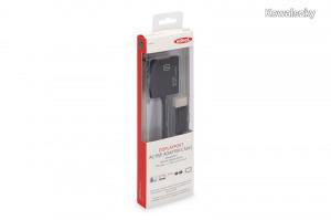 Ednet DisplayPort - DVI-I (Dual Link) Adapter/Converter cable 0,2m Black 84516