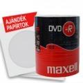 MAXELL DVD-R 4,7GB 100 db-os kiszerelésben + AJÁNDÉK 100 db papírtok