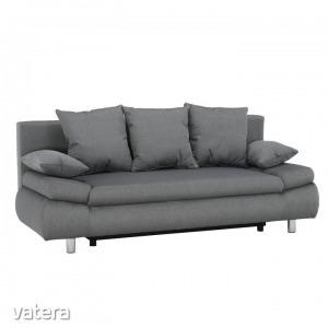 Kinyitható kanapé, szövet szürke, STETFORD
