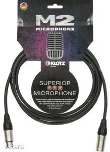 Klotz - mikrofonkábel 10 m Klotz XLR3M-XLR3F csatlakozók+MC2000 fekete kábel