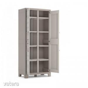Guliver multifunkciós tárolós szekrény - műanyag 182x80x44