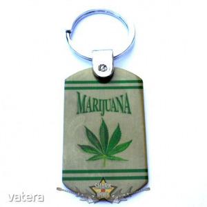 MARIJUANA. fém kulcstartó