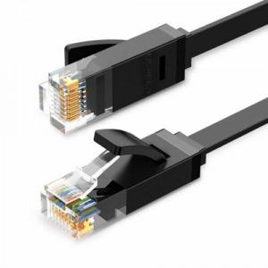 Ugreen Ethernet patchcord RJ45 Cat 6 UTP Lapos LAN kábel 1000 Mbps 5m - Fekete (20163)
