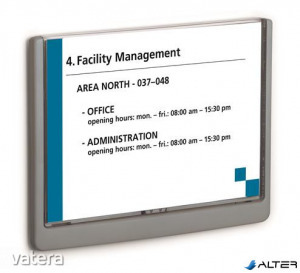Információs tábla, 148,5x210 mm, DURABLE CLICK SIGN, szürke