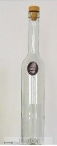 Nagy-Magyarország ón címkés hosszú pálinkás üveg 0,5 liter