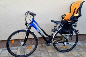 KTM Life trekking városi túrakerékpár túra kerékpár bicikli 28 + RÖMER gyerekülés + FULL FELSZERELVE