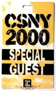 Crosby, Stills, Nash & Young 2000. SPECIAL GUEST. Stage pass. - 3999 Ft Kép