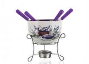 Banquet 17AA1210-A Csokoládé Fondue készlet 6 részes Lavender