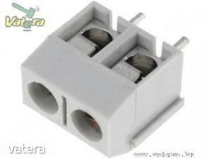 Sorkapocs 2 pin (NYÁK-ba) 5mm lábtáv, szürke