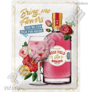 Retró Fém Tábla - Rose Field Gin  Dombornyomott - 6490 Ft Kép